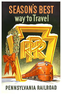 Train Mixed Media - Pennsylvania Railroad by David Wagner