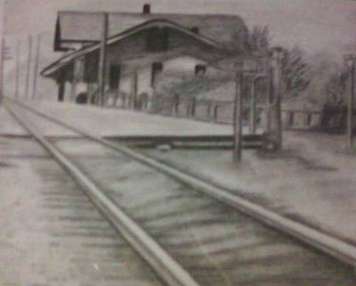 Drawing - Pennsylvania Railroad Station by Thomasina Durkay