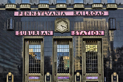 Photograph - Pennsylvania Railroad Suburban Station by Susan Candelario