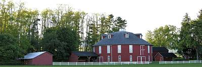 Photograph - Pennsylvania Round Barn Panorama #1 - Centre Hall Pa by Joel E Blyler
