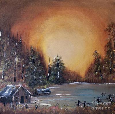Pennsylvania Shenango Dawn In Oil Art Print by Janice Rae Pariza
