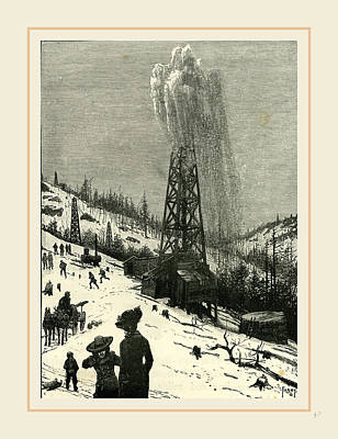 Pennsylvania Drawing - Pennsylvania, Shooting A Well, 19th Century by Liszt collection