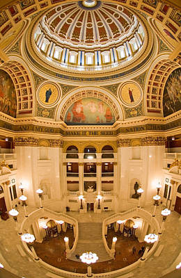 Pennsylvania State Capitol Dome And Rotunda Art Print by Frank Tozier