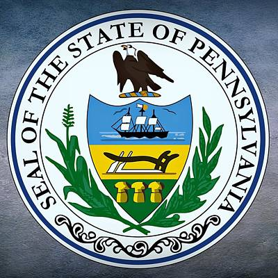 Agriculture Digital Art - Pennsylvania State Seal by Movie Poster Prints