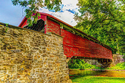 Pennsylvannia Covered Bridge Art Print