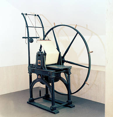 Machinery Photograph - Penny Black Stamp Press by British Library