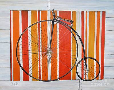 Hanging Mobile Painting - Penny-farthing by Marilyn  McNish