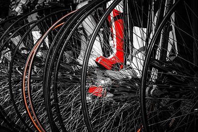 Photograph - Penny Farthing Red Boots by Silken Photography