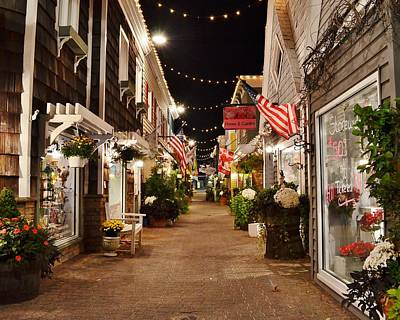 Photograph - Penny Lane At Night - Rehoboth Beach Delaware by Kim Bemis