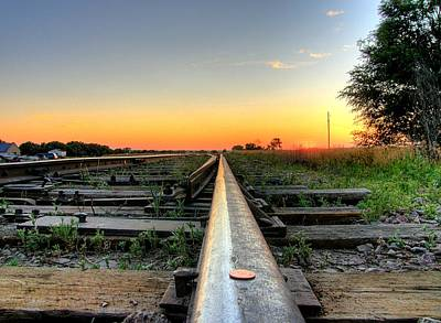 Photograph - Penny On The Tracks by HW Kateley