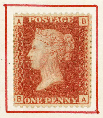 Aristocrat Photograph - Penny Red Postage Stamp by British Library