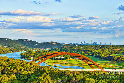 Skylines Photograph - Pennybacker Bridge Austin Texas by Tod and Cynthia Grubbs