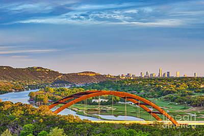 Austin Skyline Photograph - Pennybacker Bridge by Tod and Cynthia Grubbs