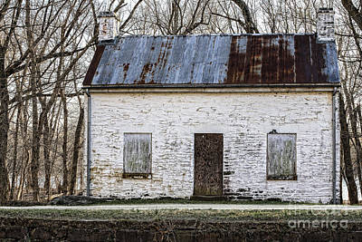Pennyfield Lockhouse On The C And O Canal In Potomac Maryland Art Print