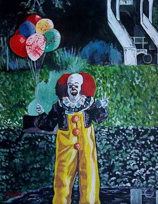 Tim Curry Painting - Pennywise The Dancing Clown by Jeremy Moore