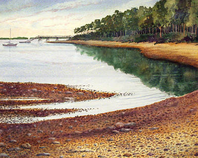 Art Print featuring the painting Penobscot Bay by Roger Rockefeller