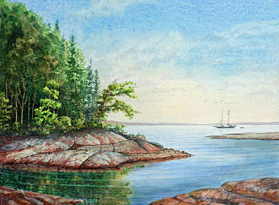 Art Print featuring the painting Penobscot Inlet by Roger Rockefeller