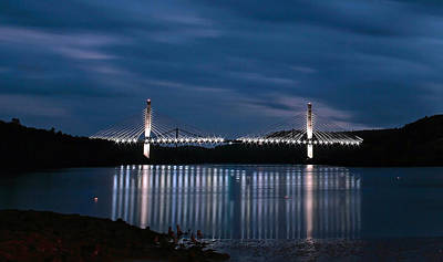 Photograph - Penobscot Narrows Bridge And Observatory At Night by Barbara West