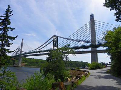 Photograph - Penobscot Narrows Bridge   by Georgia Hamlin