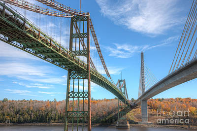 Island Stays Photograph - Penobscot Narrows Bridges by Clarence Holmes