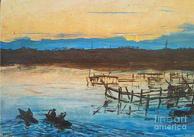 Apo Painting - Pens At Bais by Richard John Holden RA