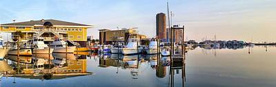 Pensacola Beach Harbor Panoramic Art Print