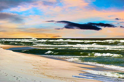 Gulf Photograph - Pensacola Beach In Hdr by Mechala Matthews