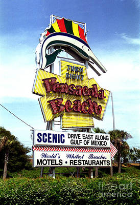 Photograph - Pensacola Beach Sign by Tom Brickhouse
