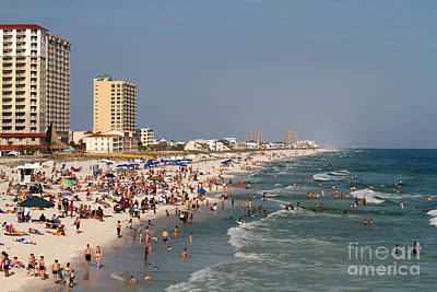 Pensacola Beach Tourists Art Print