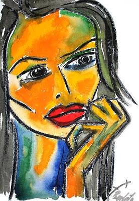 Pensando 1 Original by Jorge Berlato