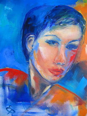 Faces Painting - Pensive by Elise Palmigiani
