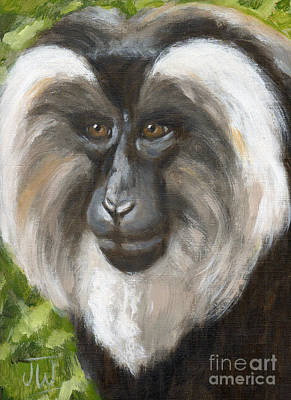 Painting - Pensive Monkey by June Walker