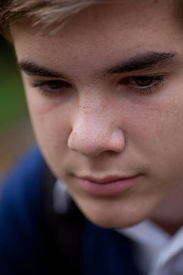 Photograph - Pensive Teenager by Carole Hinding