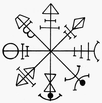 Pentacle Drawing - Pentacle Of Venus by Granger