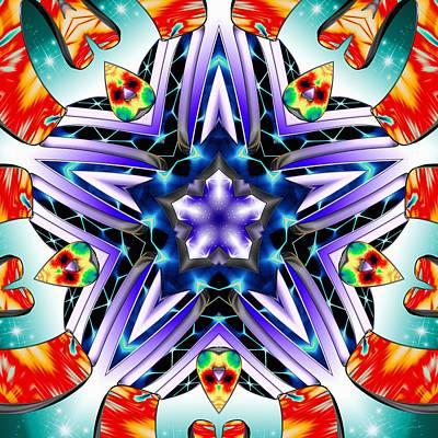 Digital Art - Pentagram Divine by Derek Gedney