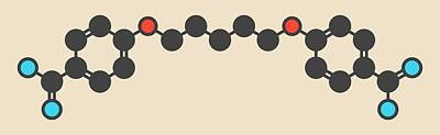 Pentamidine Antimicrobial Drug Molecule Art Print