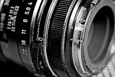 Camera Photograph - Pentax Zoom Lens Bw 3 by Pittsburgh Photo Company