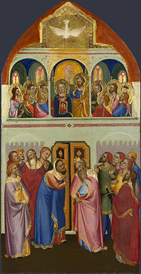 Catholic For Sale Painting - Pentecost by Jacopo di Cione and Workshop