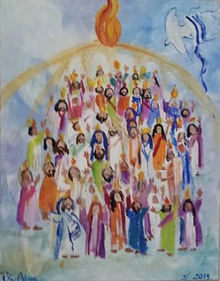 Pentecost Original by Paula Stacy Adams