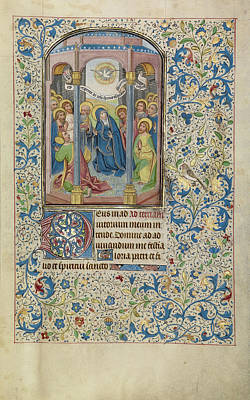 Pentecost Drawing - Pentecost Willem Vrelant, Flemish, Died 1481 by Litz Collection