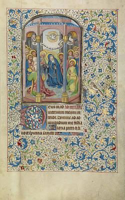 Pentecost Willem Vrelant, Flemish, Died 1481 Art Print by Litz Collection