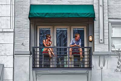 Penthouse View Art Print by John Haldane