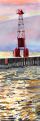Painting - Pentwater South Pier by LeAnne Sowa