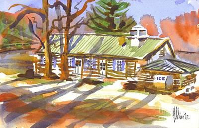 Penuel Lodge In Winter Sunlight Original by Kip DeVore