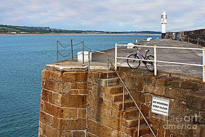 Photograph - Penzance Quay Lighthouse by Terri Waters