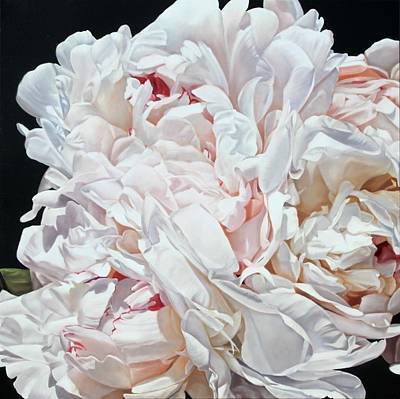 Painting - Peonies 100 X 100 Cm 2012 by Thomas Darnell