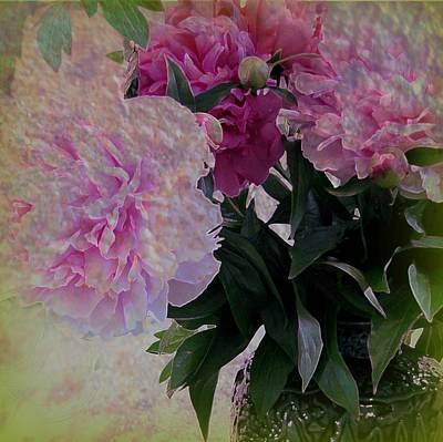 Peonies 2 Art Print by Shirley Sirois