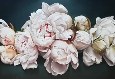 Peonies Painting - Peonies 3 by Thomas Darnell