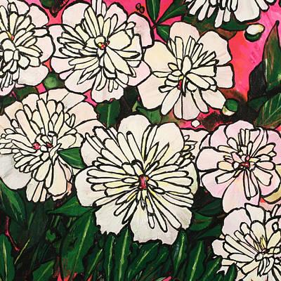 Painting - Peonies A La Mod  by Julianne Hunter