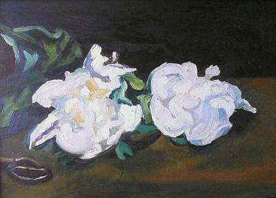 Wall Art - Painting - Peonies After Manet by Kerrie B Wrye